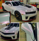 Whole Car Wrap Glossy White to Red Pearl Chameleon Vinyl Sticker 50FT x 5FT US