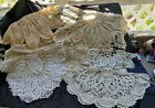 Lot of 6 Vintage Lace Dollies 15 to 30 Assorted Whites and Creams