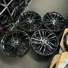 """Ex Display 18"""" Audi 2021 RS4 Style Alloy Wheels Gloss Black - Audi A3 S3 + more"""