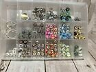 Murano Glass Beads  Charms 234 Pieces Total Nice Lot