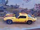 118 Scale Die Cast Custom Rusted Barn Find Yellow 1971 Chevy Camaro Z 28