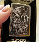 ZIPPO 49004 Sons of Anarchy SOA Grim Reaper Chrome NEW in box Windproof Lighter