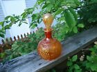 NORTHWOOD CARNIVAL GLASS GRAPE  CABLE COLOGNE BOTTLE