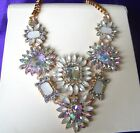 Fabulous Vintage Style Pearlesque  Clear Rhinestone  Glass Necklace