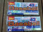 2 1985 Topps Supermarket rack packs with Clemens  McGwire on top of each
