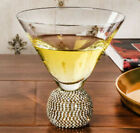 Set of Gold Diamond Ball Cocktail Glasses Hand Blown High Quality UK STOCK