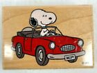 SNOOPY Stampabilities Rubber Stamp SNOOPYS CONVERTIBLE Peanuts
