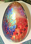 GLASS EYE STUDIO GES 91 Art Glass Dichroic Egg PAPERWEIGHT Signed Vintage