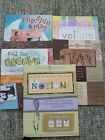 Lot of 5 Scrapbooking idea books textiles vellum notions and more