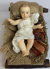 Members Mark 2007 Nativity Replacement 5 MANGER  Bby Jesus Porcelain  Fabric