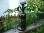 NORTWOOD CARNIVAL GLASS GRAPE  CABLE WHISKEY DECANTER WITH STOPPER