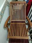 Wooden garden chairs (X 2) with cushions and storage cover