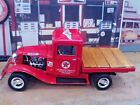 118 Die Cast Custom TEXACO Red 1934 Ford Flat Bed Truck ONE OF A KIND