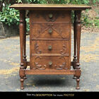 Scarce Antique Oak Edison Record Player or Music Box Stand 4 Drawer Cabinet