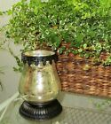 POTTERY BARN Serena Antique MERCURY GLASS Candle Holder or Vase