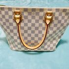 AUTHENTIC Louis Vuitton Damier Azur Saleya PM Tote Bag in Great Condition