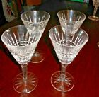 Waterford Crystal Glenmore Wine or Water Goblet 70 Glasses Cut Glass SET of 4