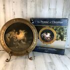 THE PROMISE OF CHRISTMAS ROBERT STANLEY Lighted Nativity Charger With Stand