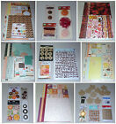 Huge Fall Scrapbook Lot Basic Grey Websters Pages Authentique Prima  More