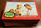 1977 Topps Star Wars Series 2 Incomplete Set Lot (43-66) + Extras & 1 Sticker (7