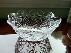Waterford Crystal Cut Glass Signed Pineapple Pattern Scalloped 8 3 4 Bowl EUC