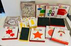 Lot of 16 Sizzix Red and Yellow Dies Tim Holtz Alterations Bigz Dies