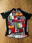 Vintage Cannondale Volvo Cycling Jersey Flags Short Sleeved Mens Large