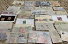 WORLDWIDE STAMPS LOT IN GLASSINES OFF PAPER FROM 25 WW COUNTRIES NO US