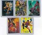 1992 MARVEL MASTERPIECES LOST LADIES 5 CARD CHASE INSERT COMPLETE SET LM1-LM5