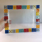 Contemporary Fused Art Glass Tray 12 X 925 Rectangle Colorful