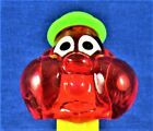 PEZ - BUBBLEMAN -  ***  (1999) Red Crystal Head / Neon Yellow  Stem *** -  LOOSE