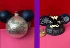 Disney Cruise Line Jumbo Pearlescent Glass Ornament And Ear Hat Ornaments