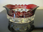 Antique Victorian Ruby Flash Stain Glass EAPG Kings Crown Master Berry Bowl