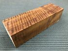 CW507 Curly Claro Walnut billet block carving craft knife handle game call 10