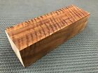 CW508 Curly Claro Walnut billet block carving craft knife handle game call 10