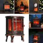 Indoor Outdoor LED Flame Effect Lantern Decor Christmas Fireplace Log Fire Lamp