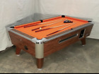 7 VALLEY COMMERCIAL COIN OP POOL TABLE MODEL ZD 4 NEW ORANGE CLOTH