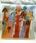 Fused Glass Signed Peggy Karr 08 Dogs And Cats Square 1375 Diagonal 975 Wide