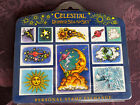 Celestial Rubber Stamp Set 1995 Personal Stamp Exchange 90s Scrapbooking