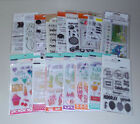 Huge Lot of Clear Stamps  Stencils Recollections Kaisercraft Fiskars  More