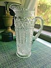 EAPG Pitcher by Cambridge Inverted Feather 1910 Clear Pressed Victorian Glass
