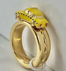 Kate Spade Taxi Ring size 6 yellow cab gold plated novelty large statement New