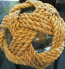Pottery Barn Recycled Glass Ball with Abaca Rope New wo tag