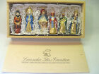 LAUSCHA GLAS CREATION SET OF 6 GLASS NATIVITY ORNAMENTS NEVER OUT OF WOOD BOX