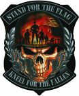 STAND FOR THE FLAG KNEEL FOR FALLEN Embroidered Iron On LARGE PATCH 10 x 12
