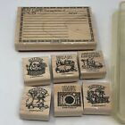 7 pc Rubber Stamps Wood Stamps Scrapbook Recipe Card Making From Kitchen Of