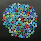 round sea beach glass 100 pcs lots dime size blue green red jewelry use