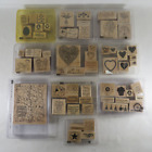 Lot of 10 Stampin Up Rubber Stamp Sets Holidays Birthday Easter Valentines Day