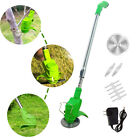 Cordless Garden Mower Lawn Trimmer Edger Weed Eater w Blades 21V Battery Charger