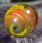 150 BEAUTIFUL TIGHT GOLD LUTZ CORKSCREW NEW CONTEMPORARY ART GLASS MARBLES
